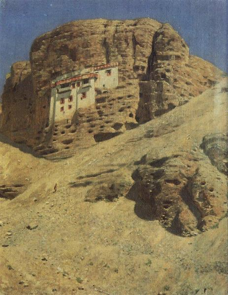 Monastery in a Rock. Ladakh, 1875 - Vasily Vereshchagin