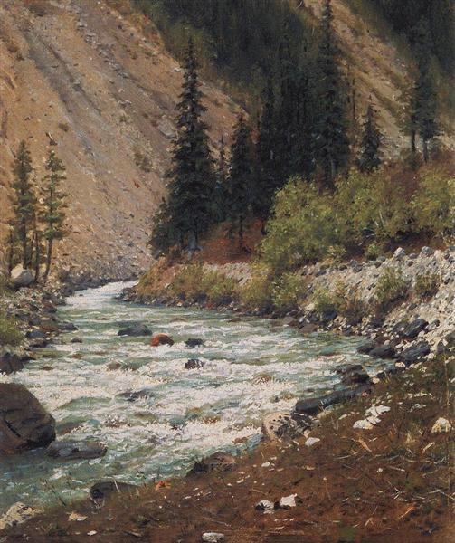 Mountain stream in Kashmir, 1875 - Vasily Vereshchagin