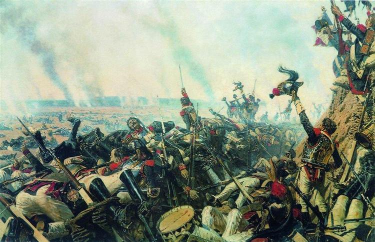 The end of Borodino battle, 1899 - 1900 - Vasily Vereshchagin