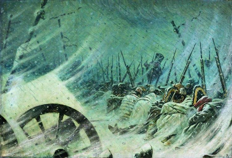 The Night Bivouac of the Great Army, 1896 - 1897 - Vasily Vereshchagin
