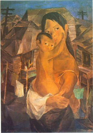 Madonna of the Slums, 1950 - Vicente Manansala