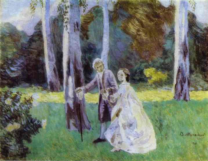 A Walk, 1901 - Victor Borisov-Musatov