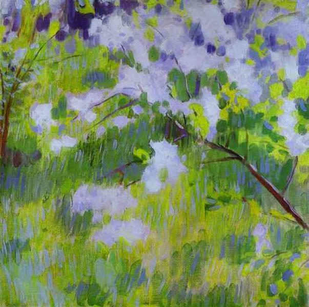 Cherry Trees in Blossom, 1901 - Victor Borisov-Musatov