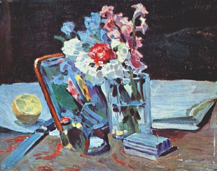 Натюрморт с цветами, 1902 - Виктор Борисов-Мусатов