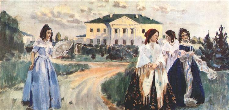 Walk at Sunset, 1903 - Victor Borisov-Musatov