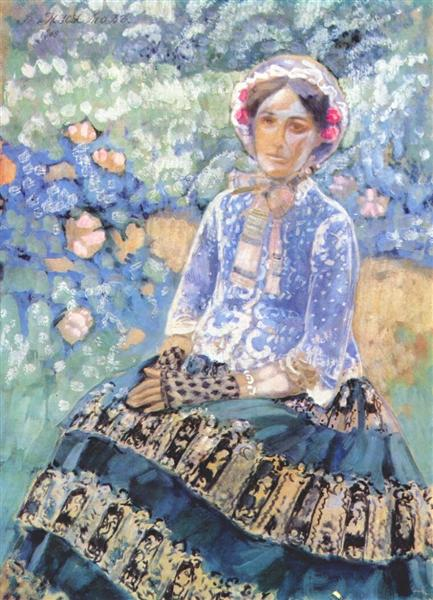 Woman in Blue Dress, c.1903 - Victor Borisov-Musatov
