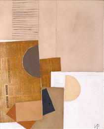 Abstract in White, Grey and Ochre - Victor Pasmore