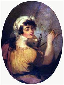 Portrait of a Woman (Painter) - Vieira Portuense