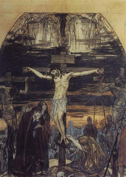 Crucifixion, 1896 - 1904 - Viktor Vasnetsov