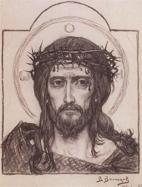 Savior in the crown of thorns, 1906 - Viktor Vasnetsov