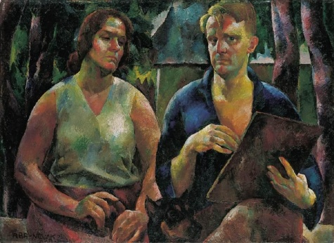 Double Portrait (The Artist and His Wife), 1925