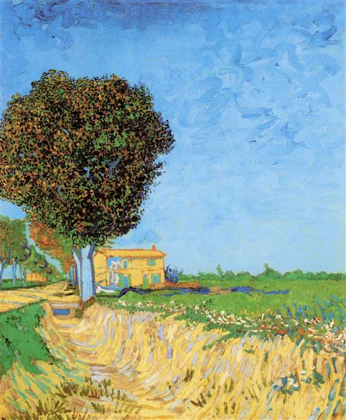 A Lane near Arles, 1888 - Vincent van Gogh