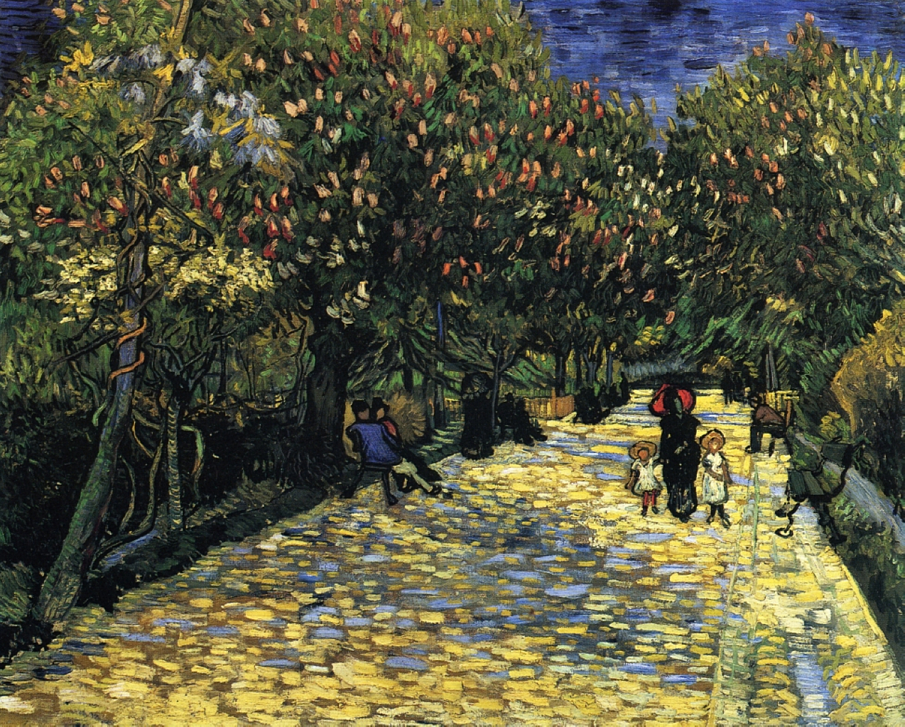 Charmant Avenue With Flowering Chestnut Trees At Arles, 1889   Vincent Van Gogh