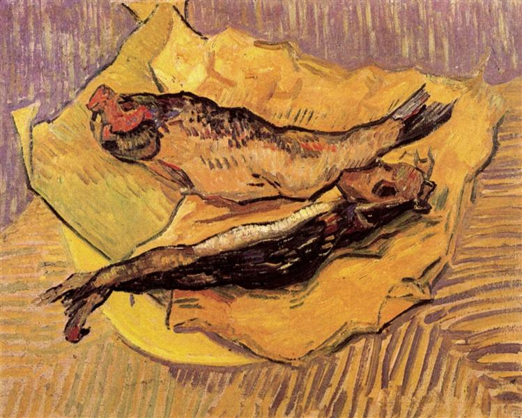 Bloaters on a Piece of Yellow Paper, 1889 - Vincent van Gogh