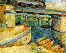 Puentes a través del Sena en Asnières, Vincent van Gogh