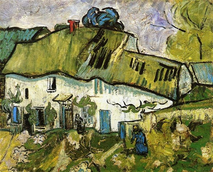 Farmhouse with Two Figures, 1890 - Vincent van Gogh