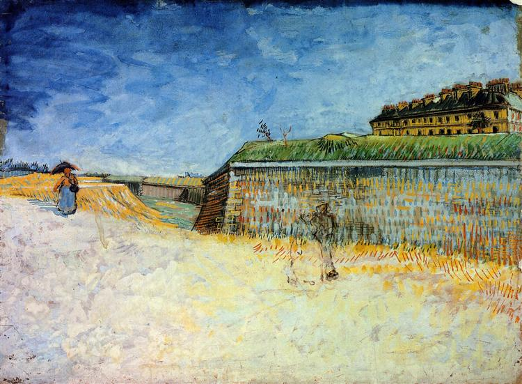Fortifications of Paris with Houses, 1887 - Vincent van Gogh