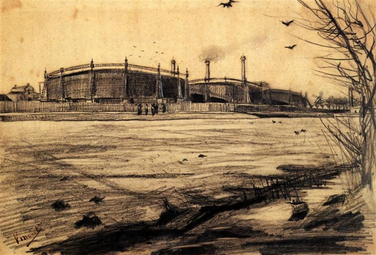 Gasworks, 1882 - Vincent van Gogh