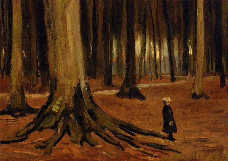 Girl in the Woods, 1882 - Vincent van Gogh