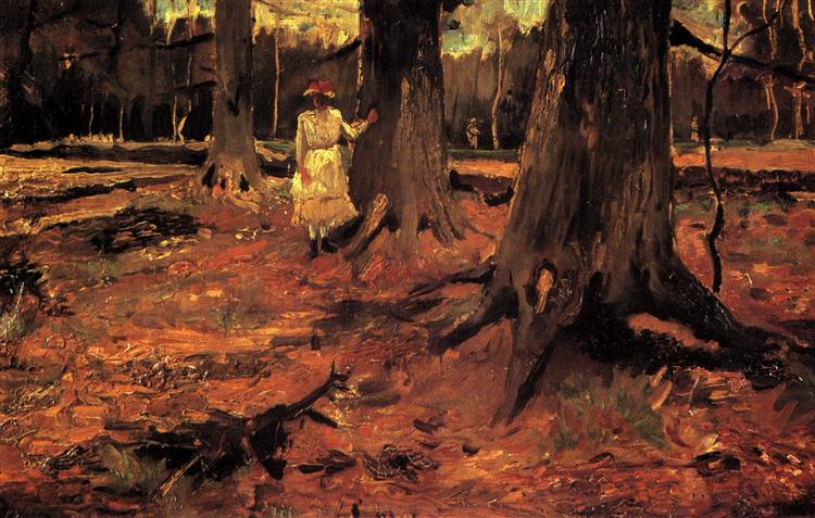 Girl in White in the Woods, 1882 - Vincent van Gogh