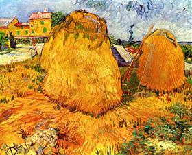 Haystacks en Provence, Vincent van Gogh