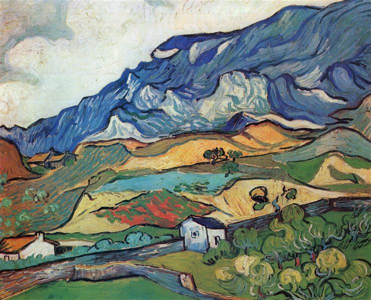 Les Alpilles, Mountain Landscape near South-Reme, 1889 - Vincent van Gogh