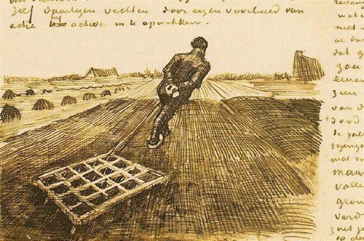 Man pulling a harrow, 1883 - Vincent van Gogh