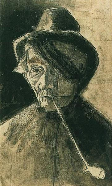 Man with Pipe and Eye Bandage, 1882 - Vincent van Gogh