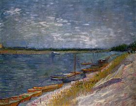 Barcos amarrados, Vincent van Gogh