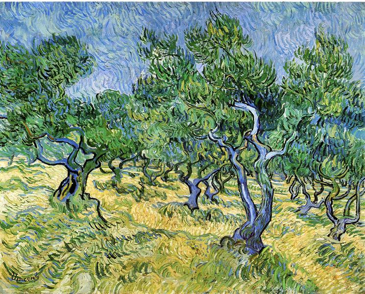 Olive Grove, 1889 - Vincent van Gogh