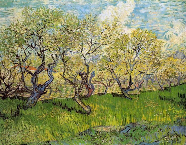 Orchard in Blossom, 1888 - Винсент Ван Гог