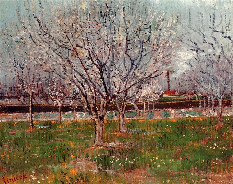 Orchard in Blossom (Plum Trees), 1888 - Vincent van Gogh