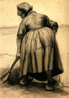 Mujer campesina que cava, Vincent van Gogh