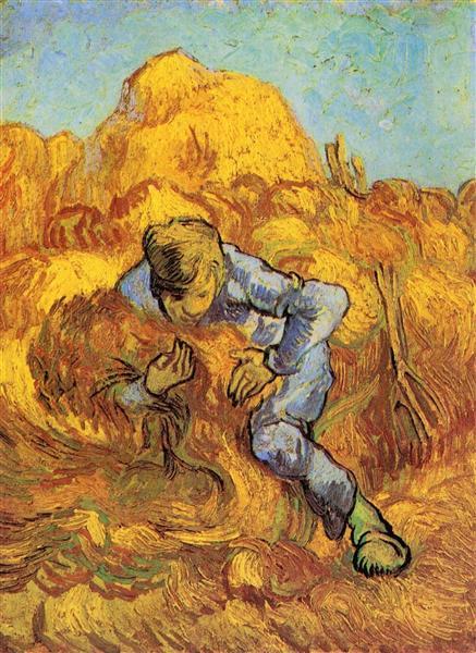 Sheaf-Binder, The after Millet, 1889 - Винсент Ван Гог
