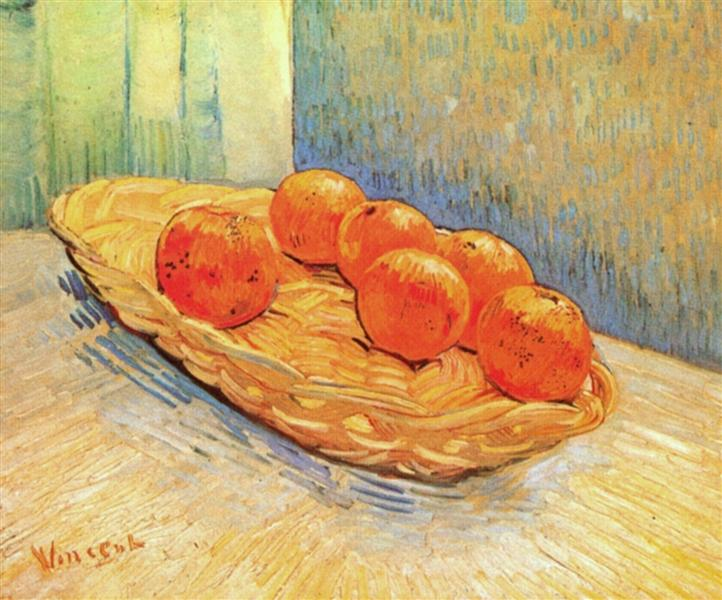 Still Life with Basket and Six Oranges, 1888 - Vincent van Gogh