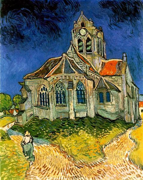The Church at Auvers, 1890 - Vincent van Gogh