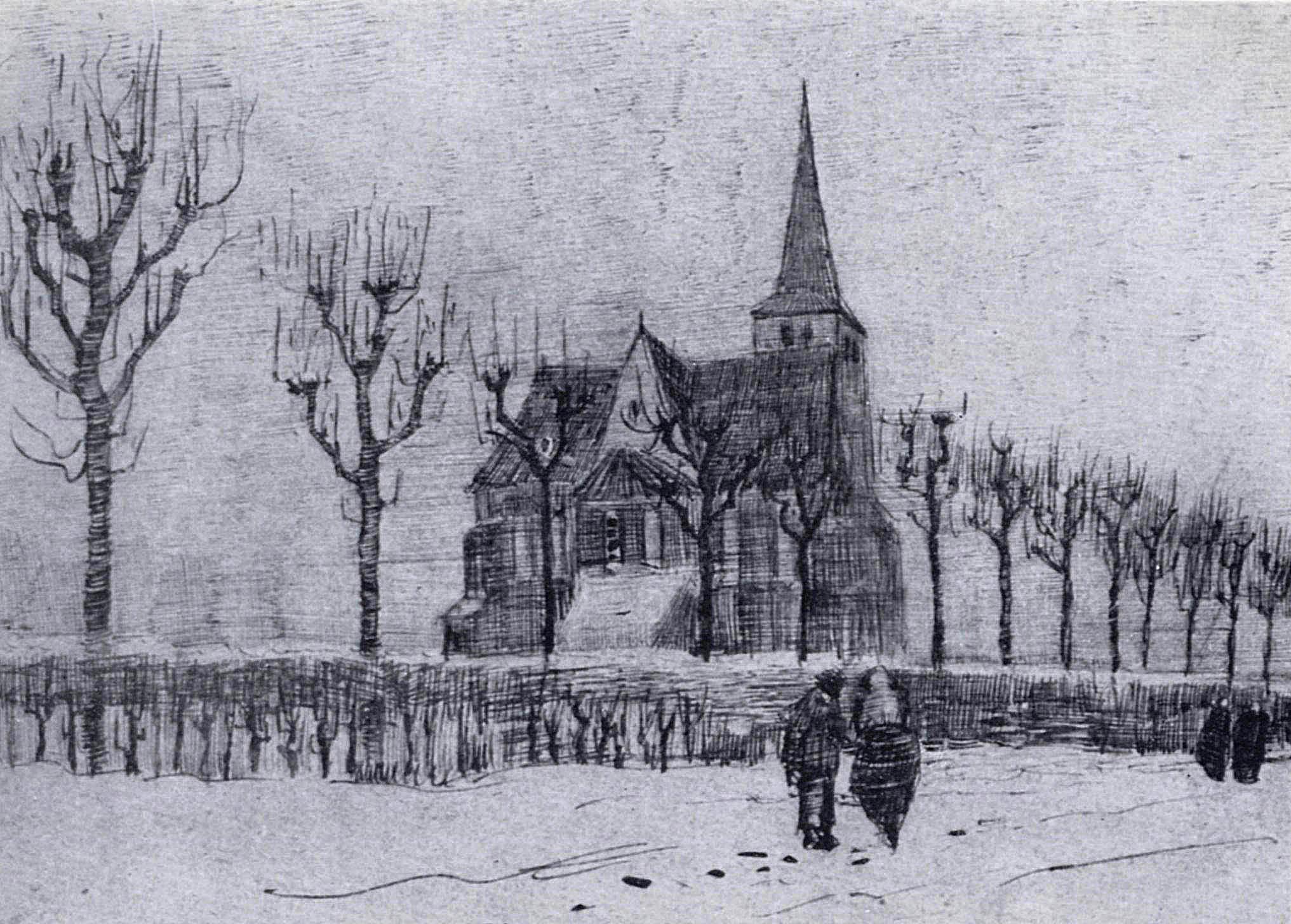 The Church In Nuenen In Winter 1883 Vincent Van Gogh