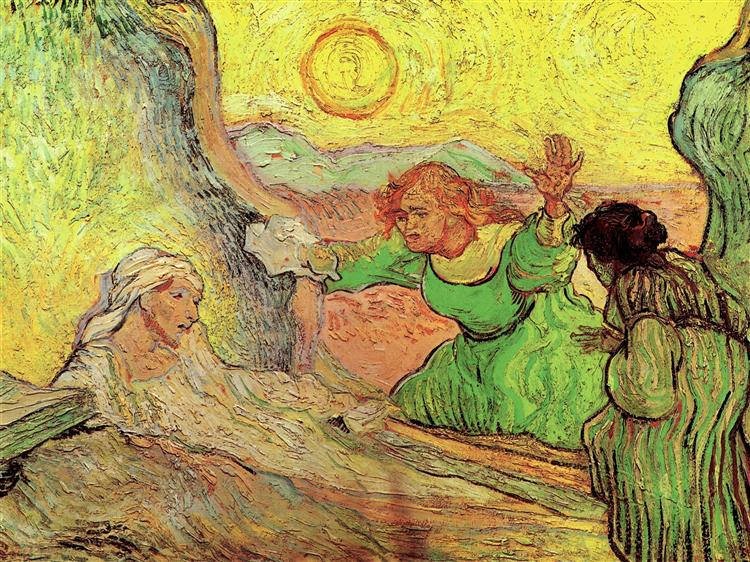 The Raising of Lazarus after Rembrandt, 1890 - Vincent van Gogh