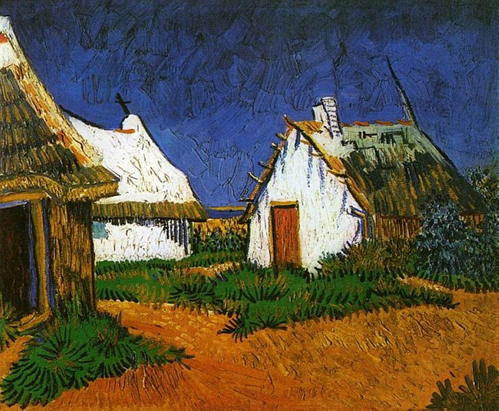 Three White Cottages in Saintes-Maries, 1888 - Vincent van Gogh