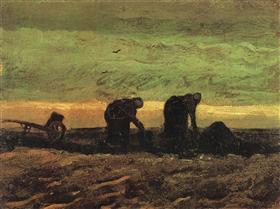 Dos mujeres en el moro, Vincent van Gogh