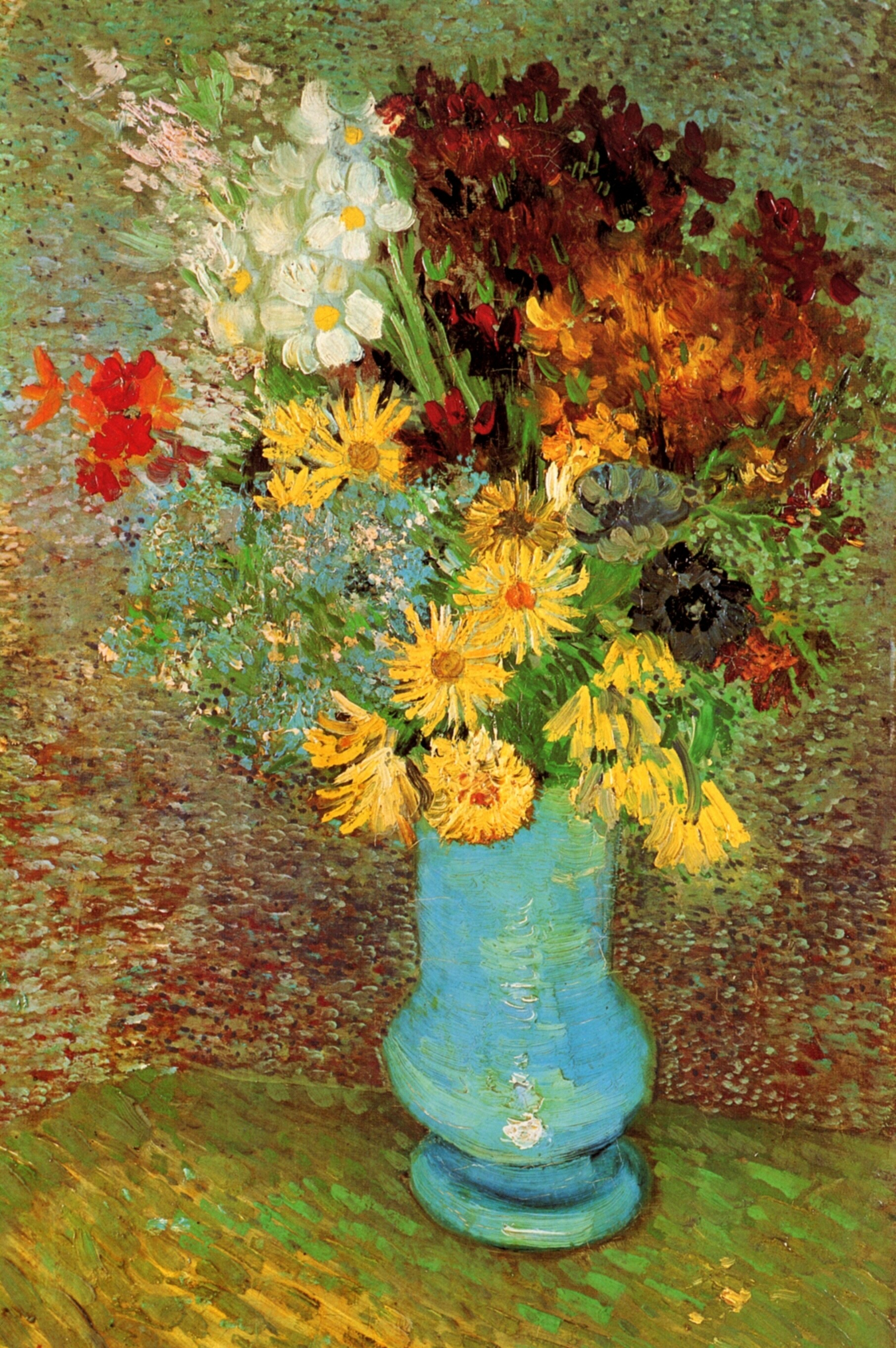 Vase With Daisies And Anemones 1887 Vincent Van Gogh Wikiart Org