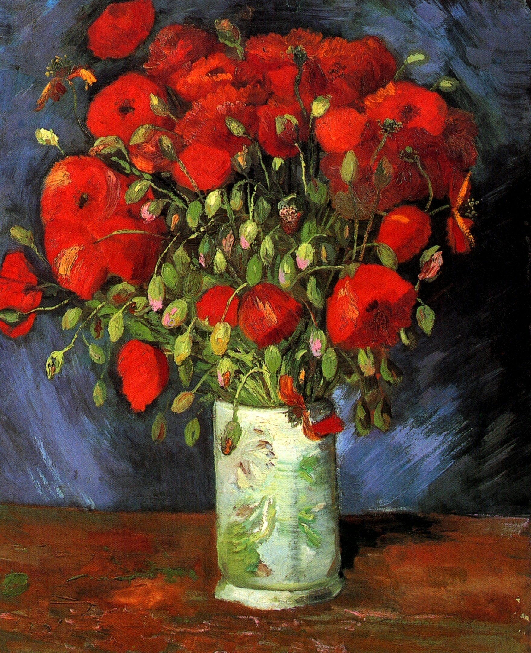 Vase with red poppies by vincent van gogh 1886 ciel bleu media vase with red poppies by vincent van gogh 1886 reviewsmspy