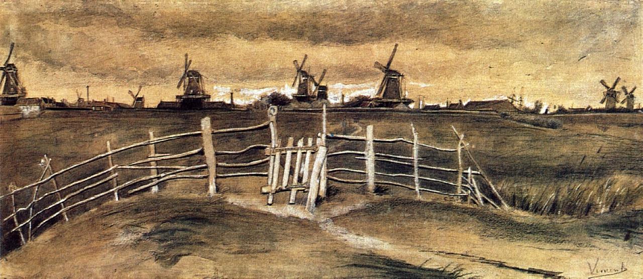 Windmils at Dordrecht, 1881