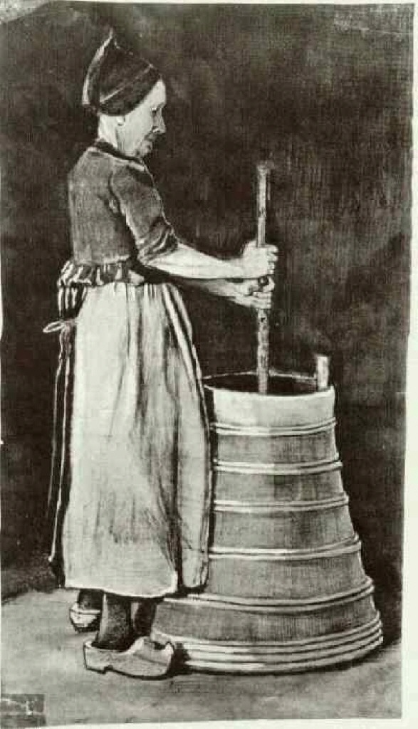 Woman Churning Butter, 1881