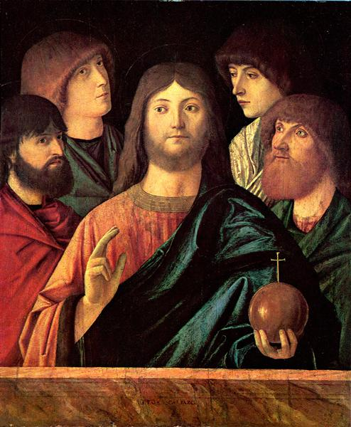 Saviour blesses the four apostles, c.1480 - Vittore Carpaccio