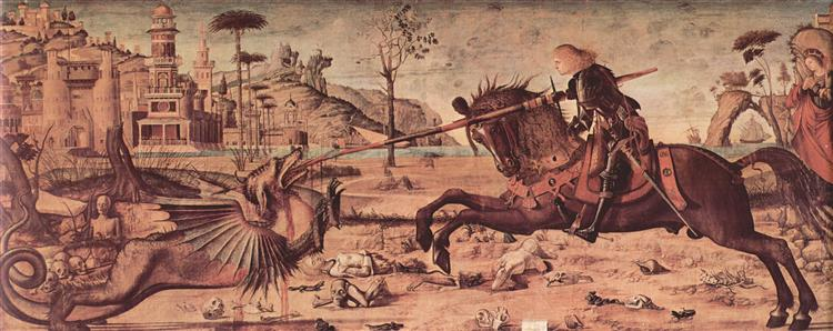 St. George Killing the Dragon - Carpaccio Vittore
