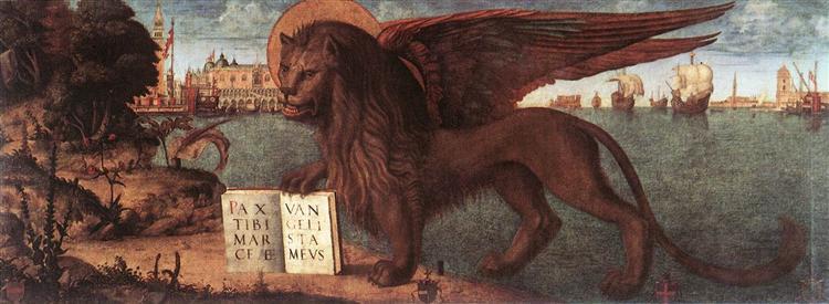 The Lion of St. Mark, 1516 - Vittore Carpaccio