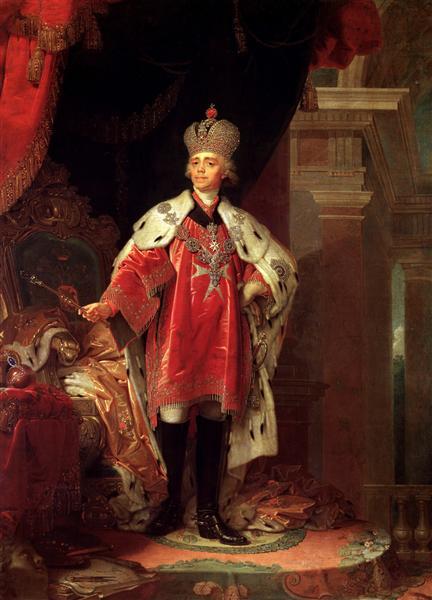 Paul I, 1800 - Vladimir Borovikovsky