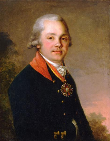 Portrait of Alexander Dmitrievich Arseniev, 1797 - Vladimir Borovikovsky