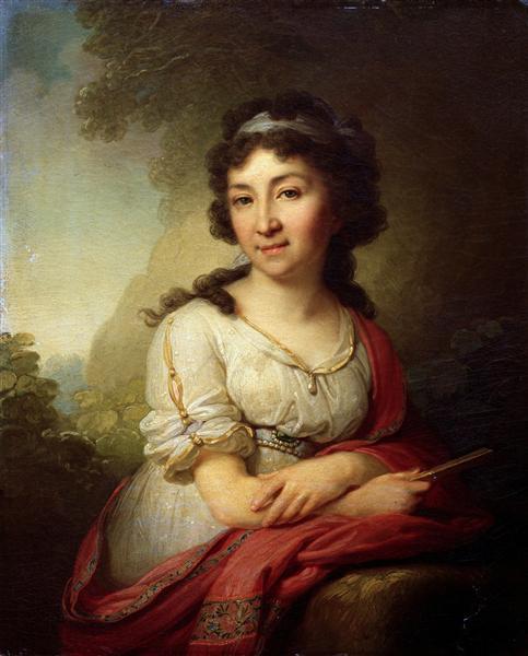 Portrait ofCatherineVasilevnyTorsukovoy, 1795 - Vladimir Borovikovsky